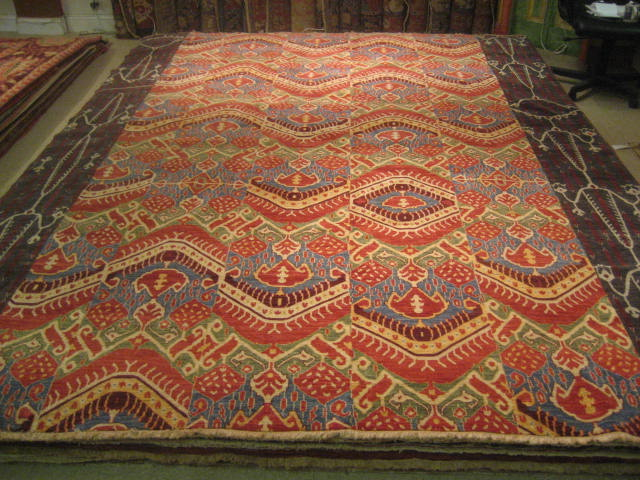Best Quality Handspun Wool, Vegetable Dyed Ikat Design Hand Knotted  Oriental Rug. Best Of Its Type. The Great New Rug. Will Be The Great Old Rug .