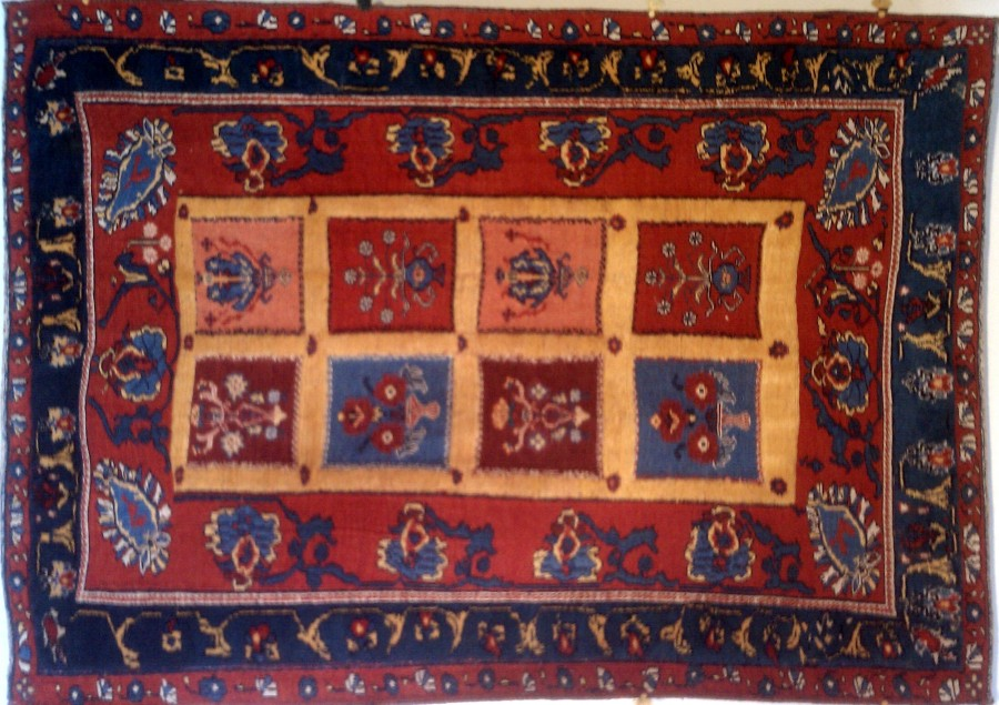 This Mixed Technique Rug Features Soumak Weave Brocading Knotted Pile And Various Types Of Embroidery Work Woven In Southern Iran By Belouchi Tribal